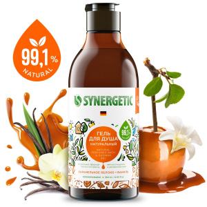 Гель для душа Synergetic Карамельное яблоко и ваниль, натуральный, биоразлагаемый, 380 мл. Это выгодно! Успей купить!