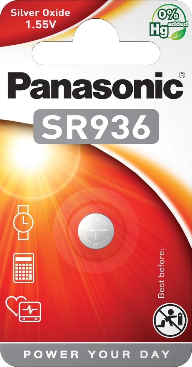 Батарейка Panasonic Silver Oxide SR-936EL/1B, дисковая серебряно-оксидная