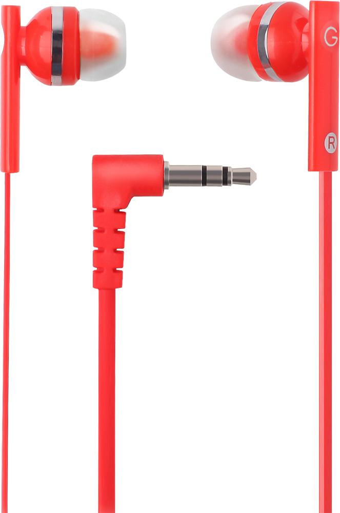 цена на Наушники проводные GAL M-005R-F Цвет: красный