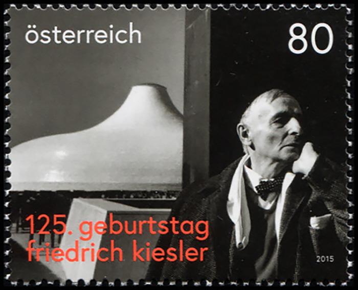 Австрия 2015. 125 лет со дня рождения Фредерика Кислера (MNH OG) Почтовая марка
