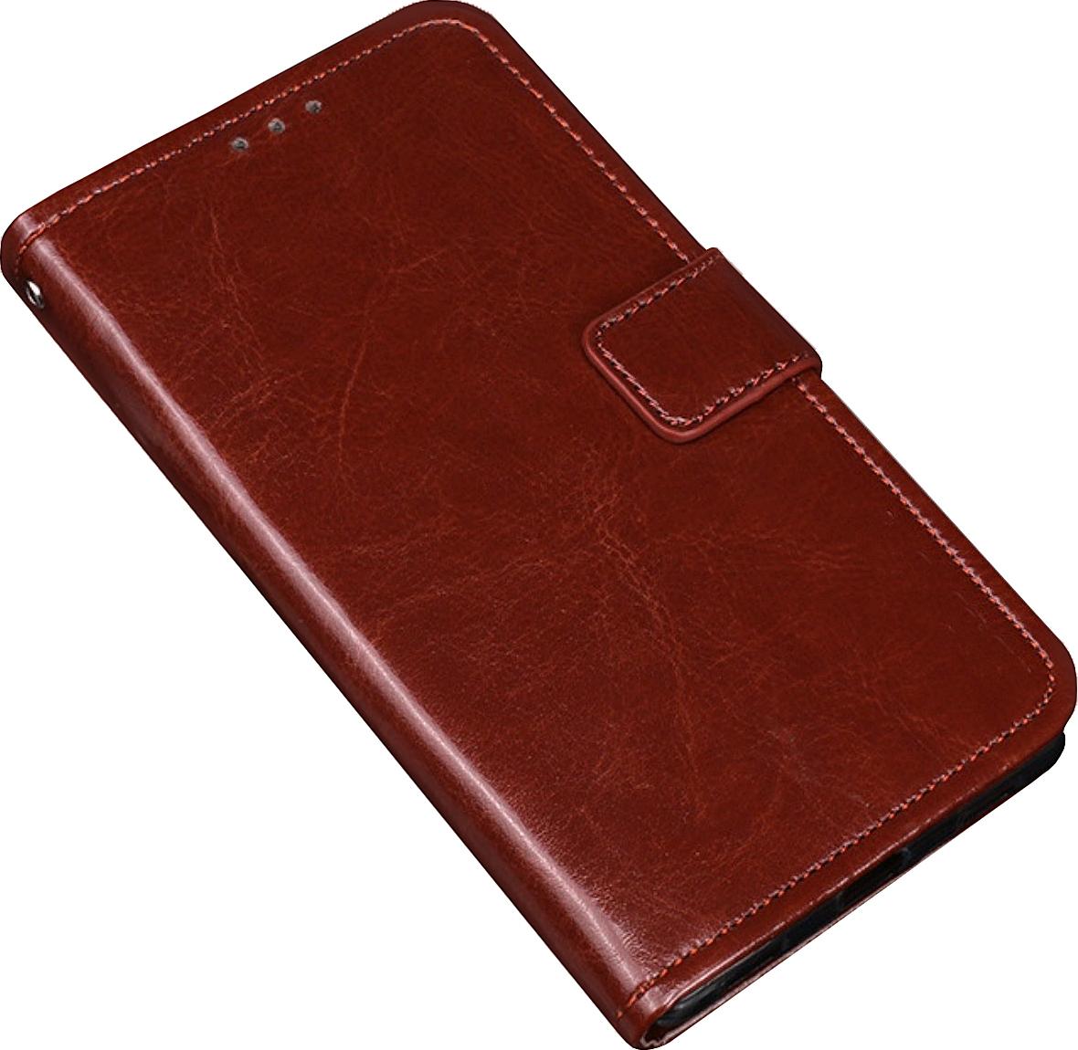 Чехол-книжка MyPads для Sony Xperia XZ1 Compact G8441 4.6 с мульти-подставкой застежкой и визитницей коричневый