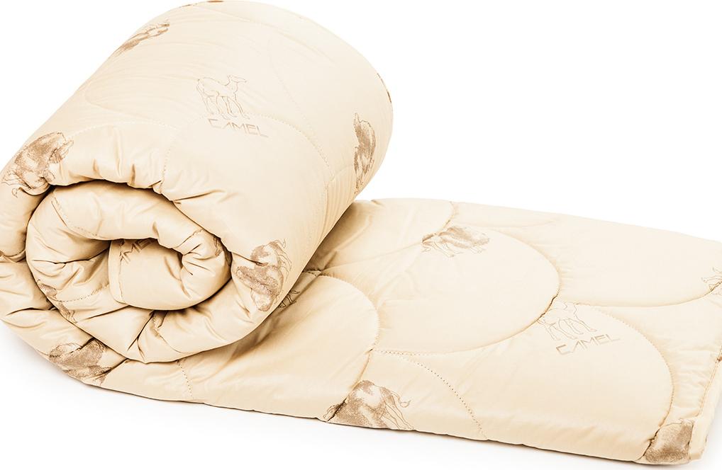 Одеяло ТК Традиция верблюжья шерсть 300 г 140х205 см, полиэстер, 1,5 сп.