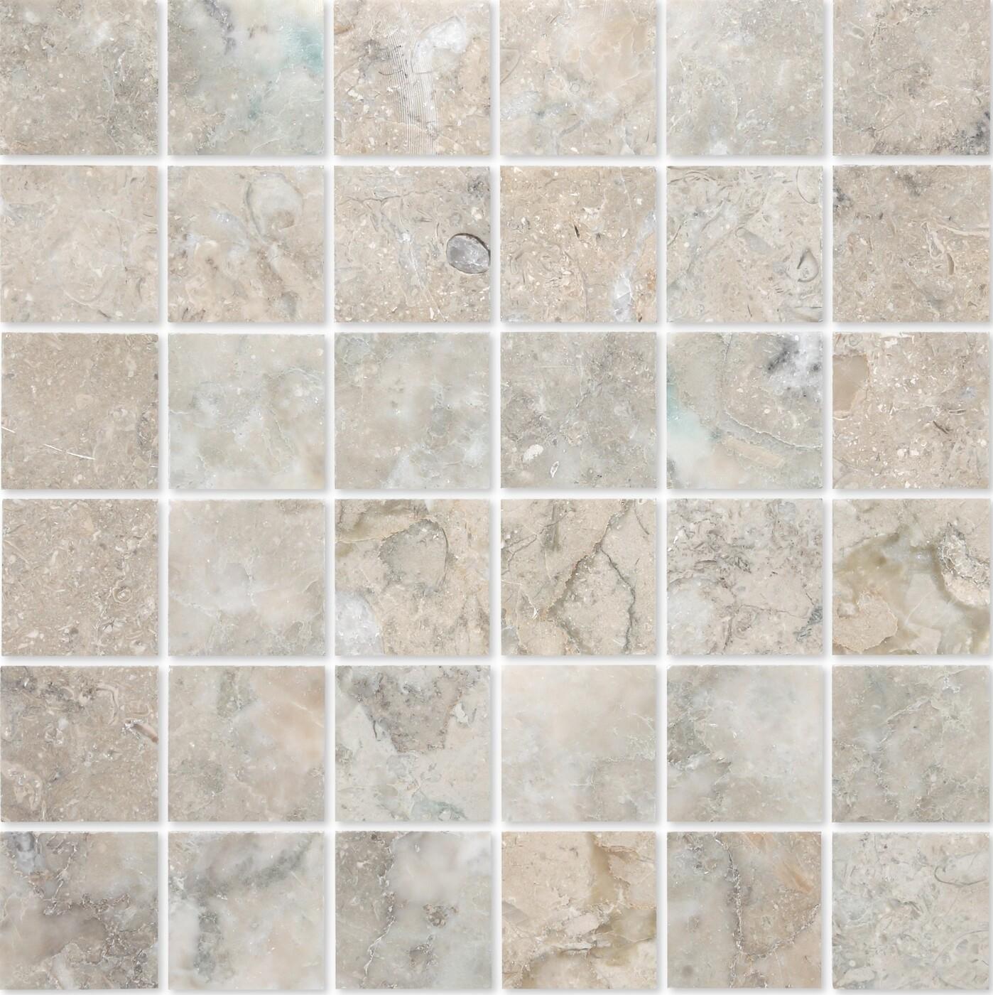 Мозаика из натурального камня Cappuccino grigio POL 48x48x7