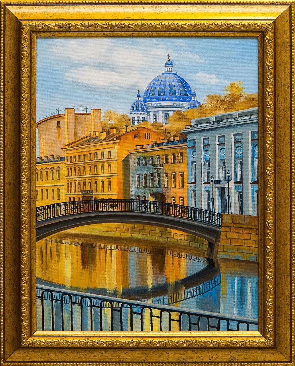 Картина маслом Питер Крылова