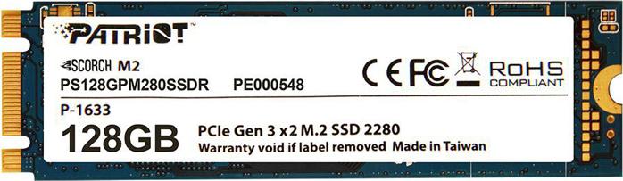 SSD накопитель Patriot Memory Scorch 128GB, PS128GPM280SSDR patriot psd48g213381