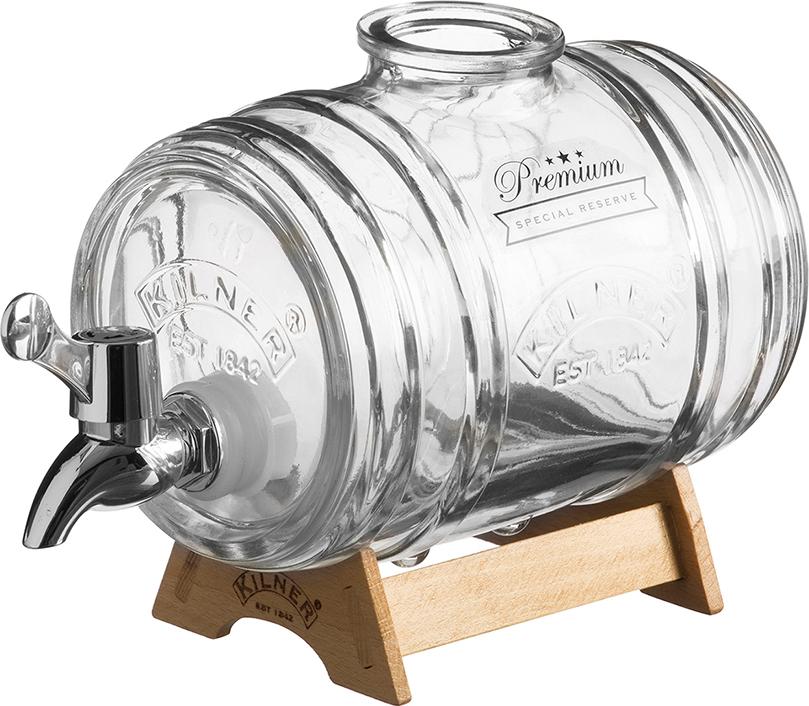 Диспенсер для напитков Kilner Barrel на подставке 1 л в подарочной упаковке