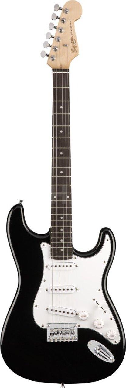 FENDER Squier MM Stratocaster Hard Tail Black электрогитара, цвет черный fender squier affinity stratocaster rw brown sunburst