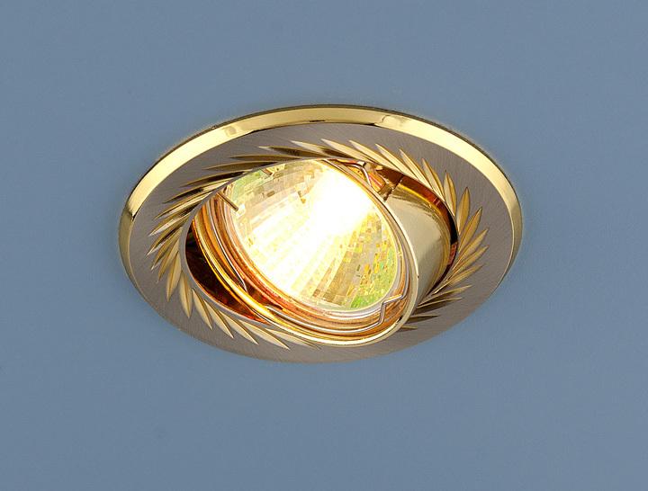 Встраиваемый светильник Elektrostandard Точечный 704 CX MR16 SN/GD, G5.3 встраиваемый светильник elektrostandard 104a mr16 ss gd сатин серебро золото 4607138143980