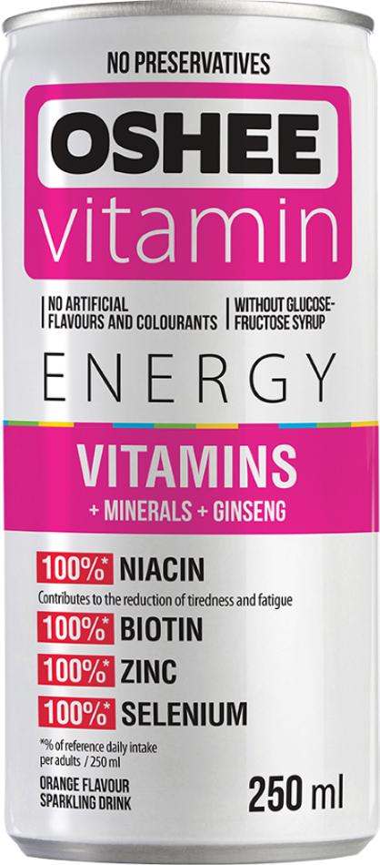 Напиток газированный Oshee Vitamins And Minerals со вкусом апельсина OSHEE