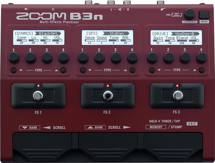 Мульти педаль эффектов для бас-гитары Zoom B3n