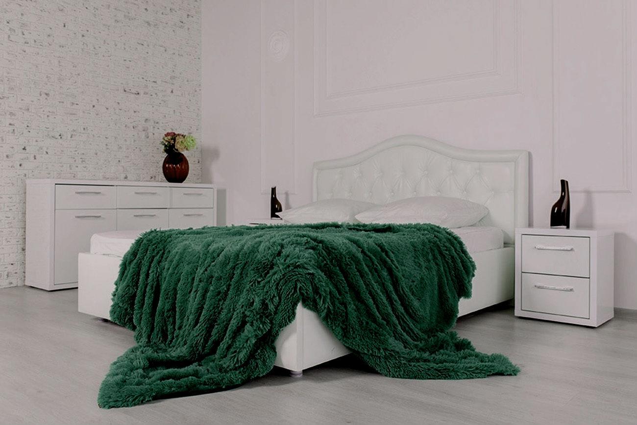 Покрывало Уют-Текстиль 240х220 01-11. Искусственный мех зеленый