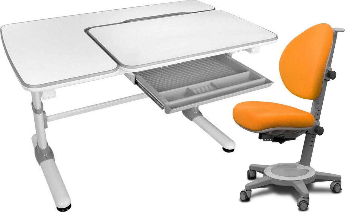 Комплект Mealux Парта Darwin с креслом Cambridge и прозрачной накладкой на парту 65х45