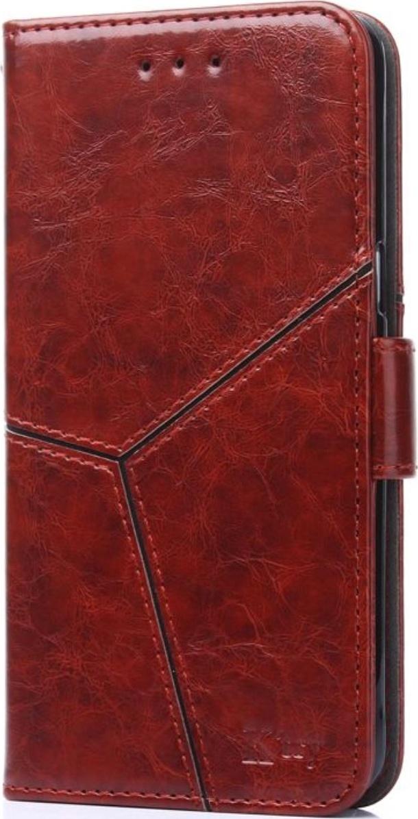 Чехол-книжка MyPads для Huawei Y5 2019   Huawei Honor 8S прошитый по контуру с необычным геометрическим швом красный кирпичный