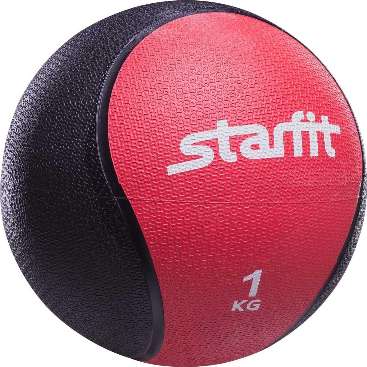 Медбол Starfit PRO GB-702, 1 кг, красный