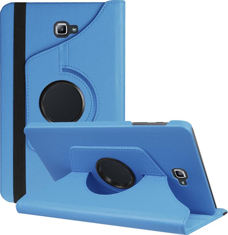 Чехол-подставка MyPads для Asus Memo Pad 8 ME180A на пластиковой основе кожаный поворотный роторный оборотный с трансформацией в подставку голубой