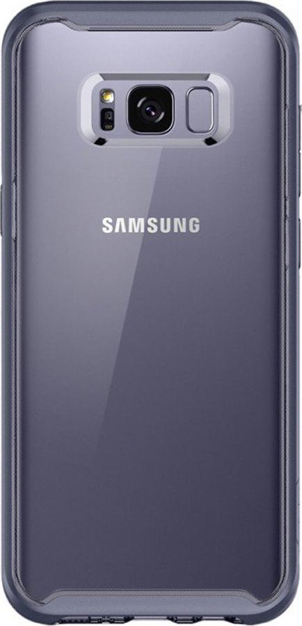 Чехол-накладка Spigen Neo Hybrid Crystal для Samsung Galaxy S8, прозрачный, серый аксессуар чехол spigen для samsung galaxy note 8crystal hybrid champagne 587cs21840