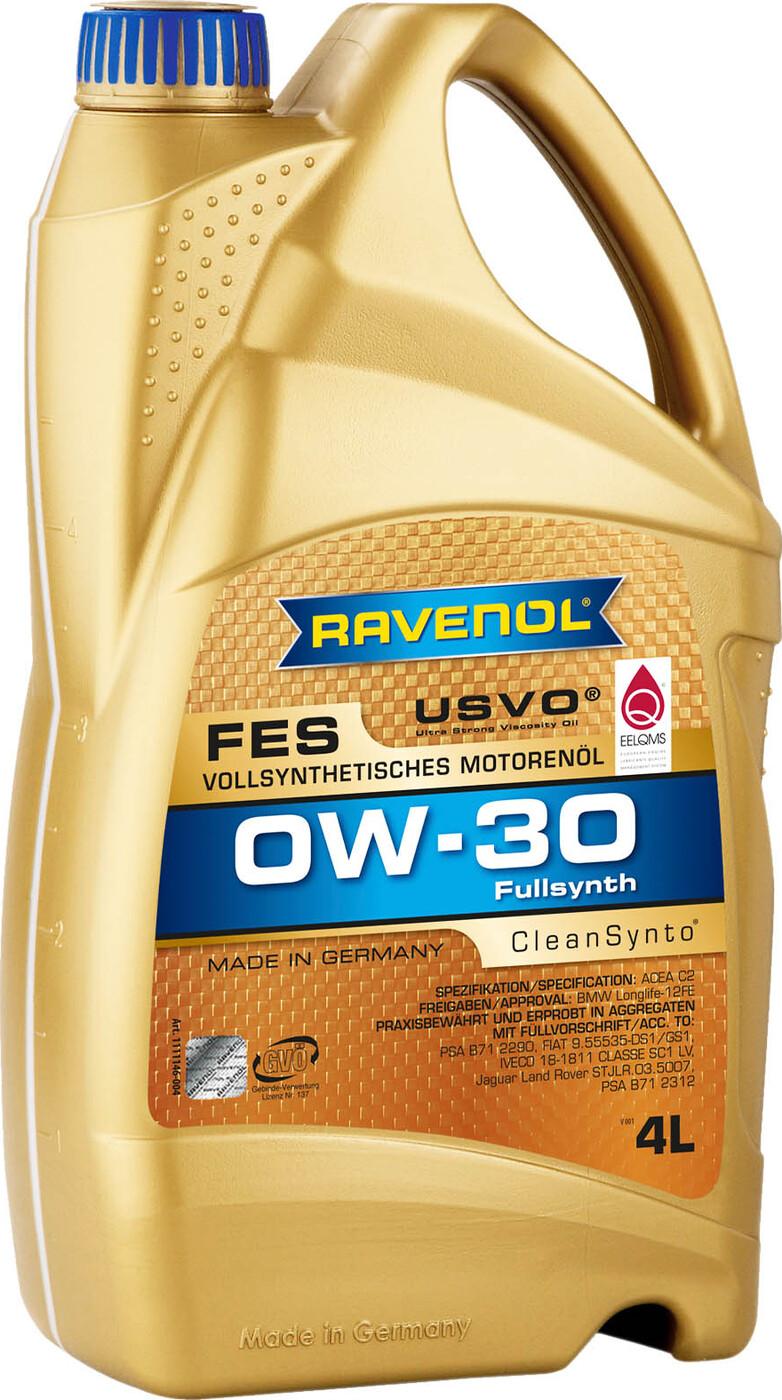 Моторное масло RAVENOL FES SAE 0W-30 (4л)