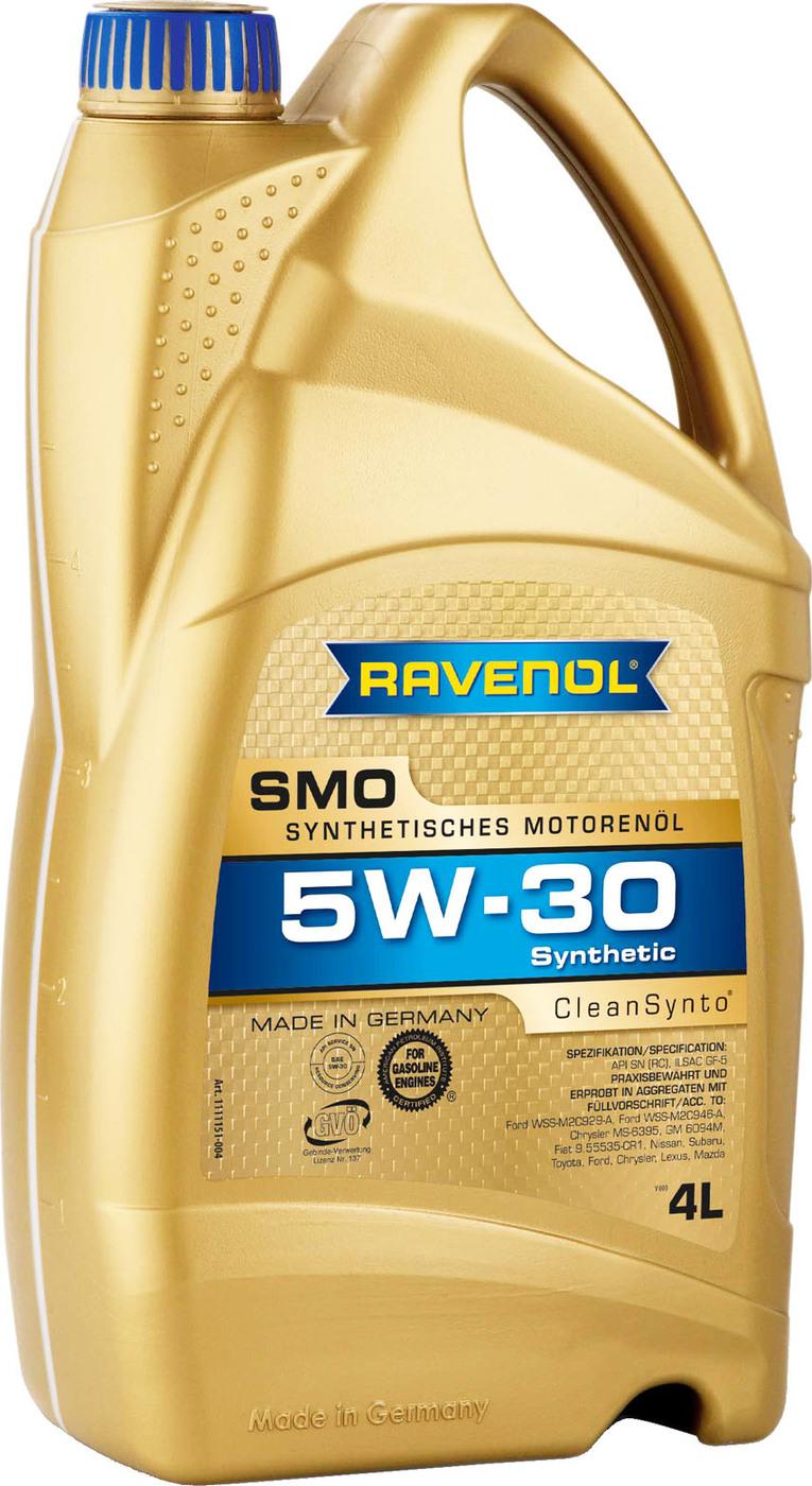 Моторное масло RAVENOL SMO SAE 5W-30 (4л)