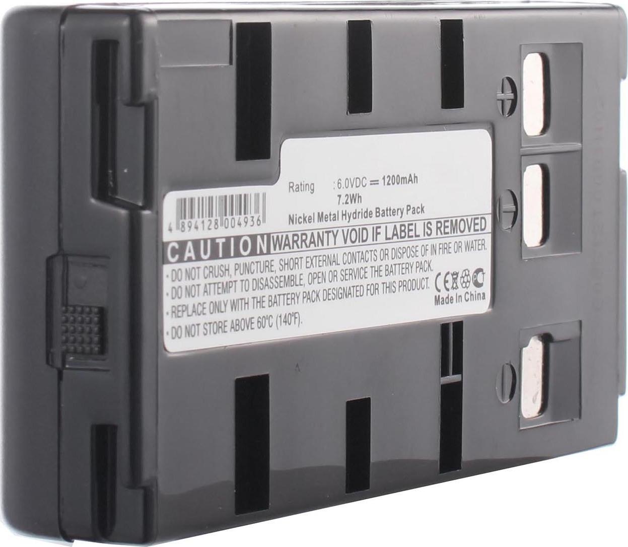 Аккумуляторная батарея iBatt iB-T3-F357 1200mAh для камер Panasonic NV-G120, NV-S250, NV-S800, NV-G101, NV-G220, NV-S600,  для Samsung VP-E405, VP-U12, VP-A30, VP-H65, VP-E807, VP-H66, VP-J52, VP-U10, VP-A50, VP-A55, VP-K75, VP-E808, VP-K85, VP-H68,