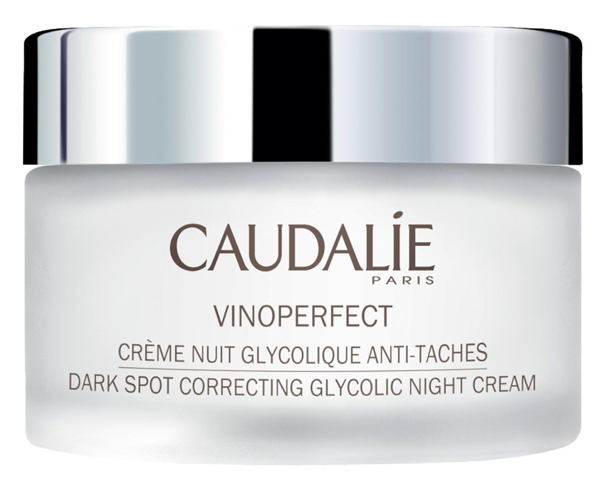 Ночной крем Caudalie Vinoperfect, для сияния кожи, с гликолевой кислотой, 50 мл Caudalie