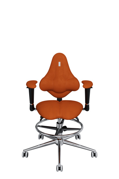 Детское компьютерное кресло KULIK SYSTEM KIDS Оранжевый