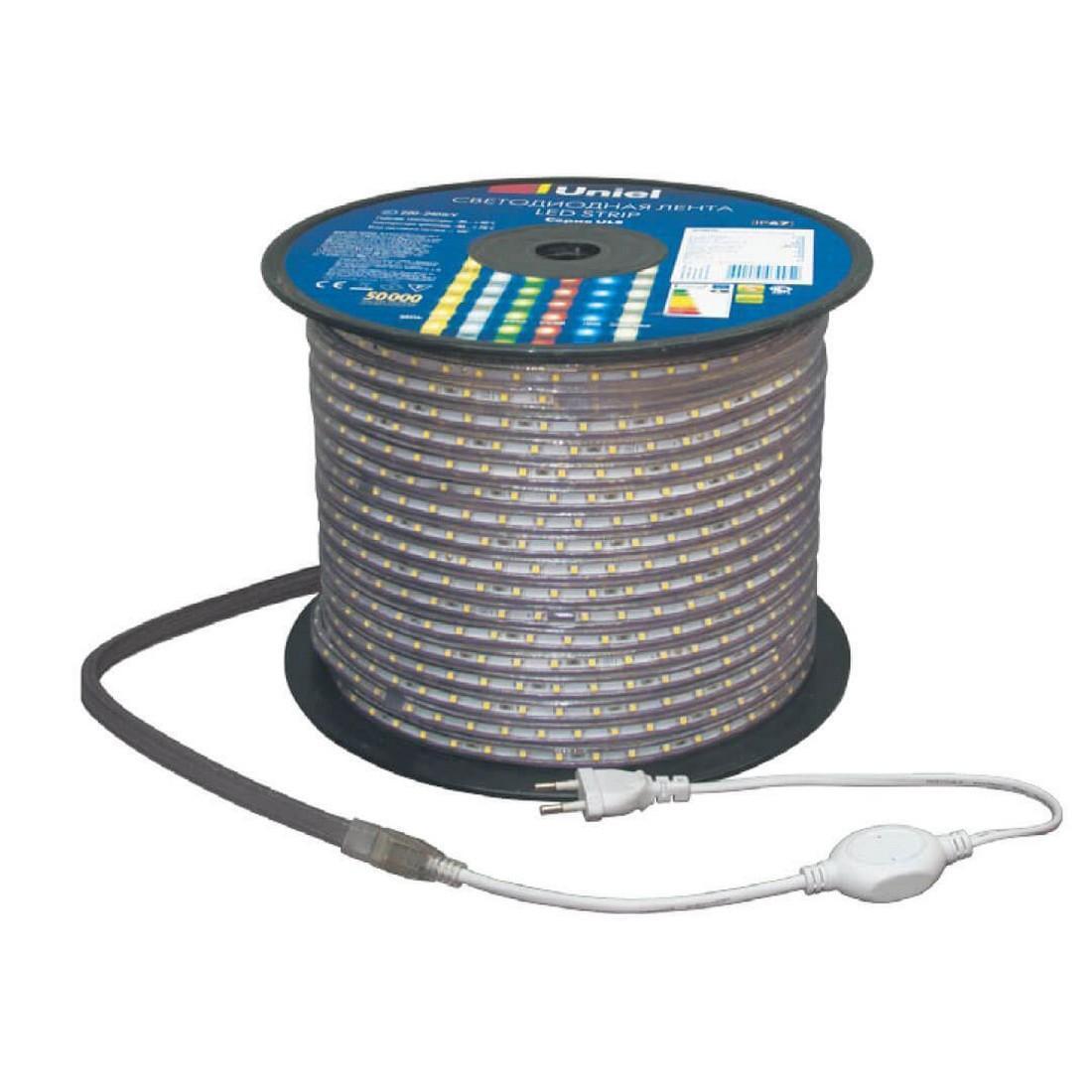 Светодиодная лента Uniel ULS-5050-60LED/m-16mm-IP67-220V-14,4W/m-50M-RGB