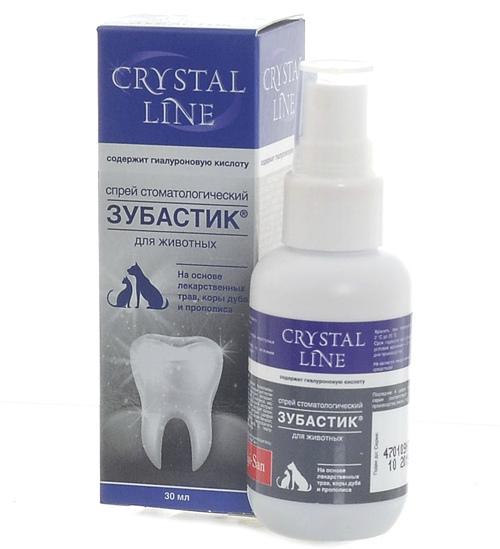 Спрей для животных Apicenna Crystal Line Зубастик стоматологический, 30 мл, 30 гр