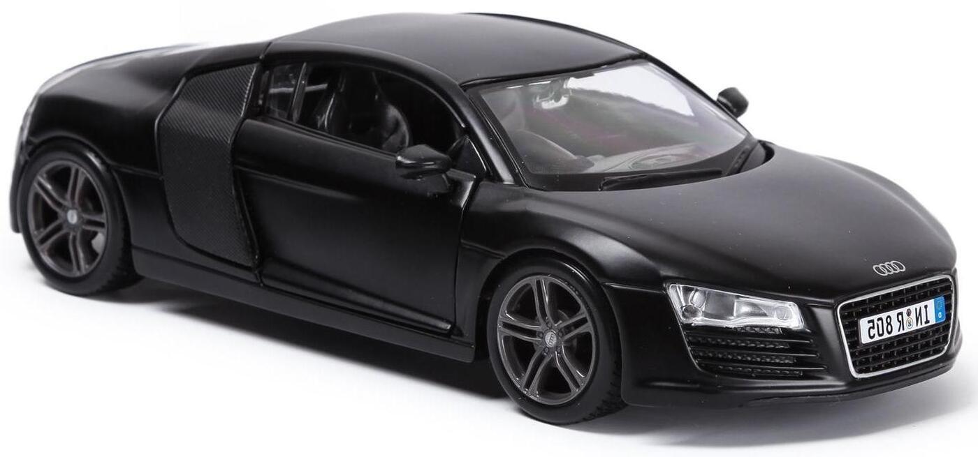 Maisto Машинка черная Audi R8 1:24