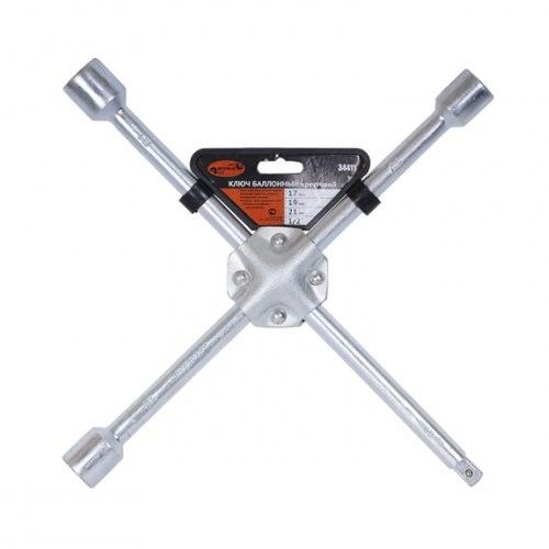 Ключ баллонный-крест АвтоDело 34417 (17*19*21*22) усиленный