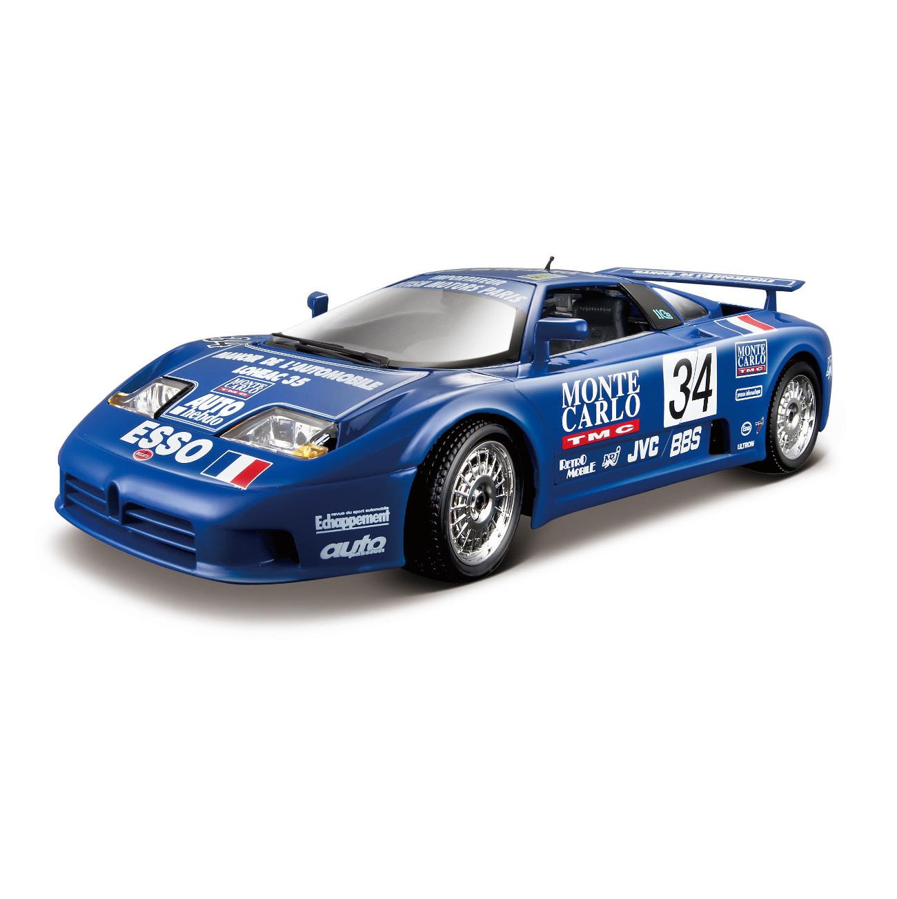 Bburago Машина металлическая Bugatti EB 110 La Minerva 1:18, 18-11039