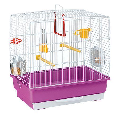 клетка для птиц ferplast record 2 белая 39x25x41см