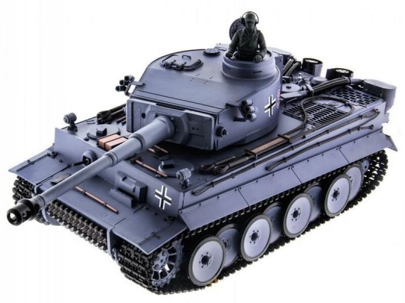 Радиоуправляемый танк Heng Long German Tiger 1:16 (ИК+Пневмо) 2.4G - 3818-1 V6.0