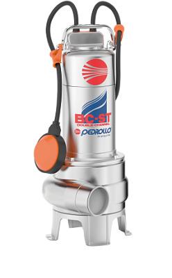 Фекальный насос двухканальный штампованный из нержавеющей стали PEDROLLO BC    10/50-ST 48SGM88A0AU