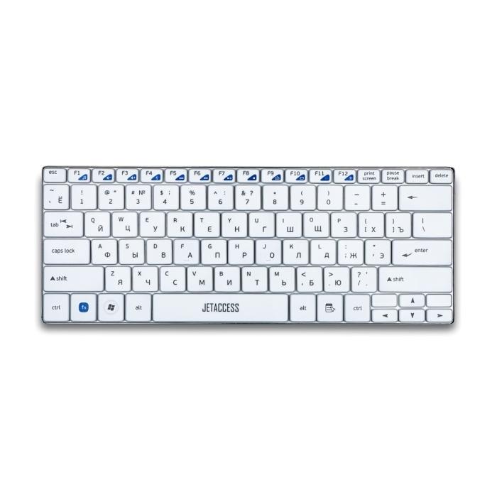 Клавиатура беспроводная ультракомпактная  JETACCESS SlimLine K7 W