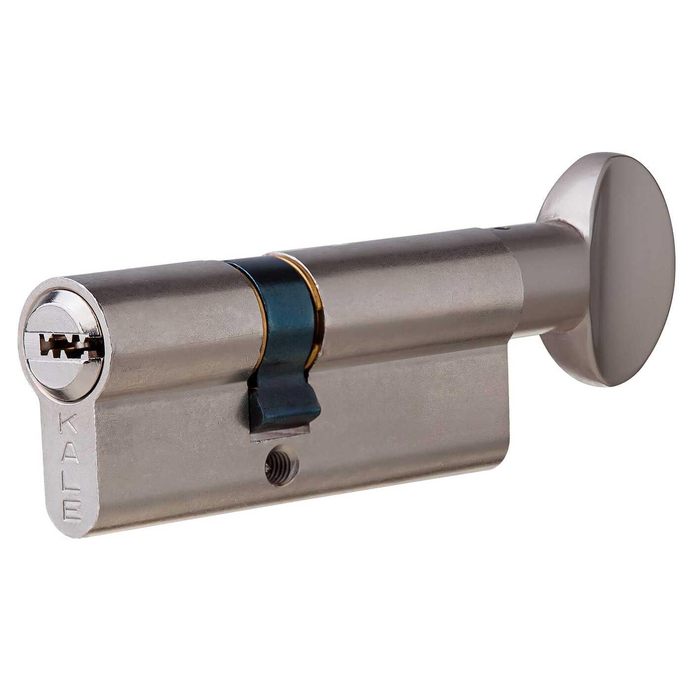 Цилиндр 164SM-80-C-NI, 30х40 мм, ключ/вертушка, цвет никель
