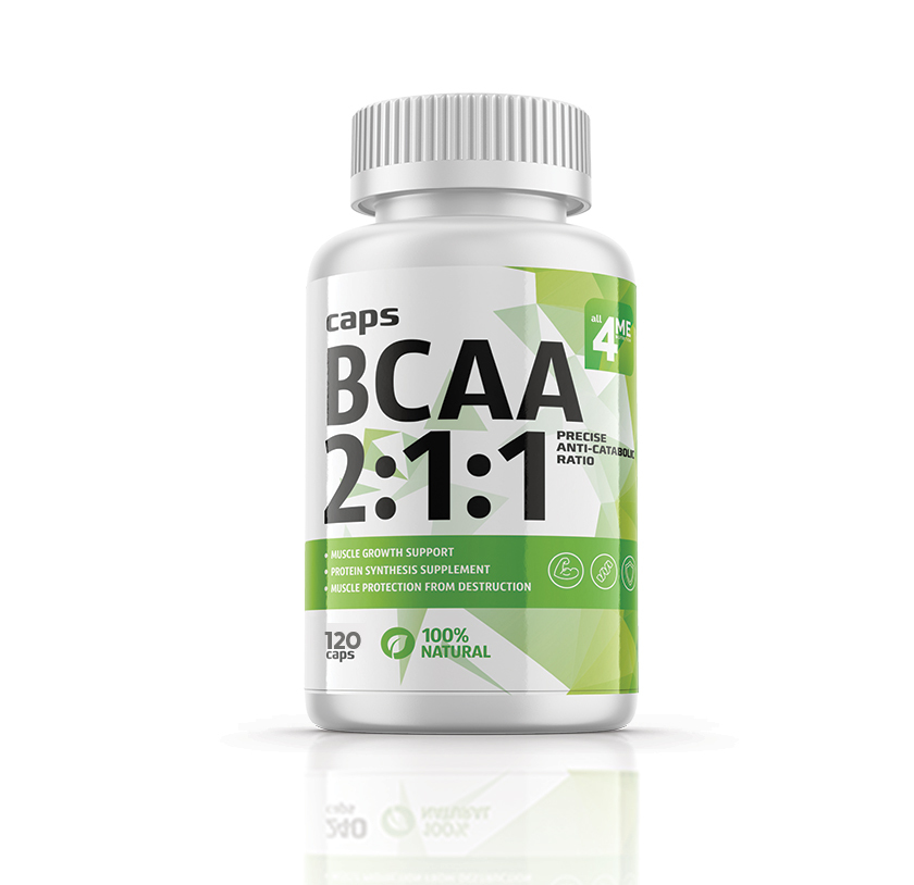 4Me Nutrition BCAA 2:1:1 500 мг 120 капс