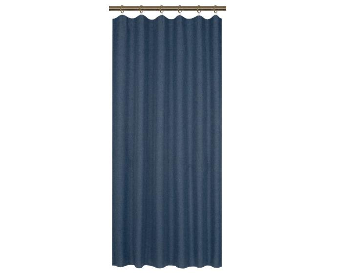 Штора на ленте 145x180 см цвет синий-20792