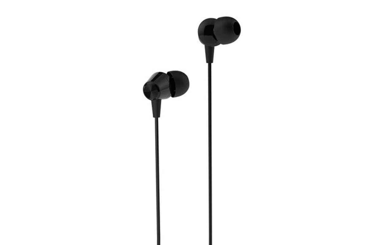 Вакуумные наушники KIN K39 Stereo HeadPhone с микрофоном (черный)