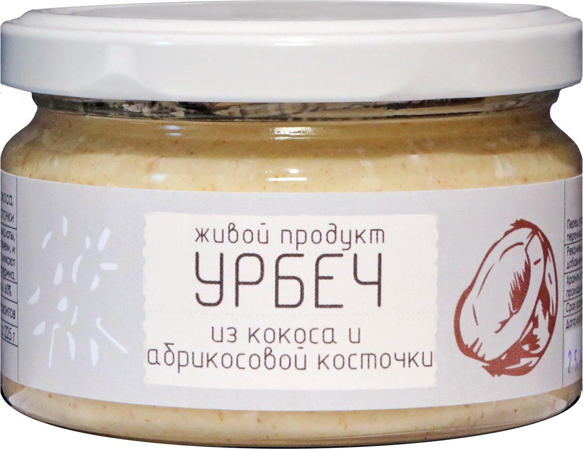 Урбеч Живой Продукт из кокоса с абрикосовой косточкой, кокосовая паста, 225 г  #1