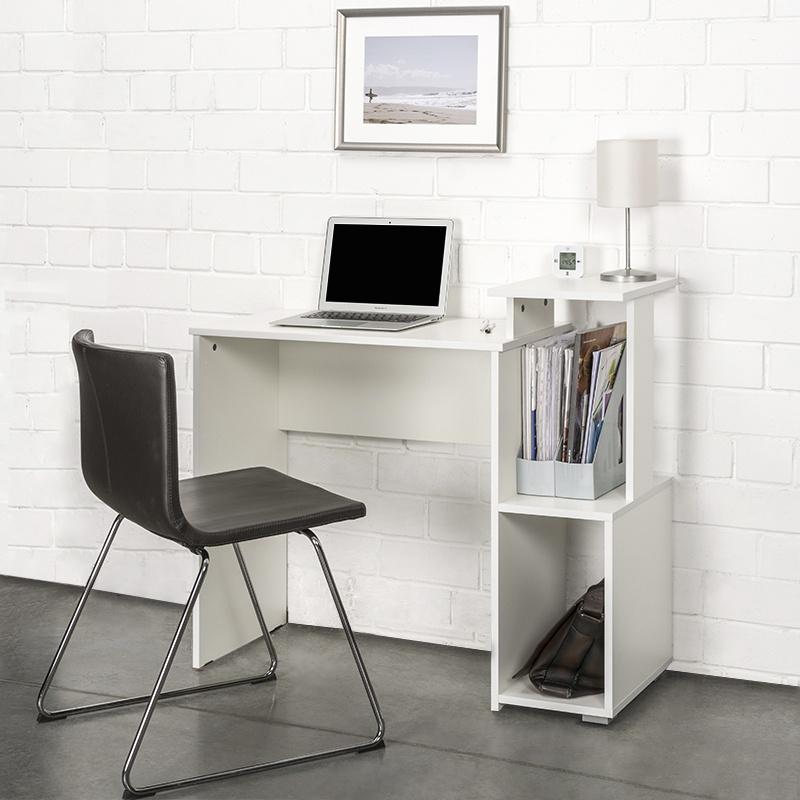 Письменный стол Моби Санди 12.32 цвет Белый РЕ шагрень, 100х38.6х85.6 см  #1