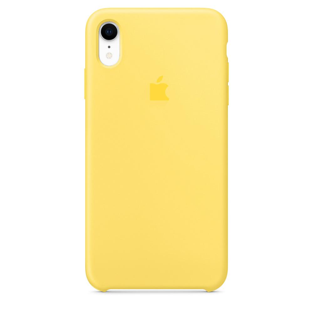 Чехол силиконовый Silicon Case iPhone XR, желтый #1