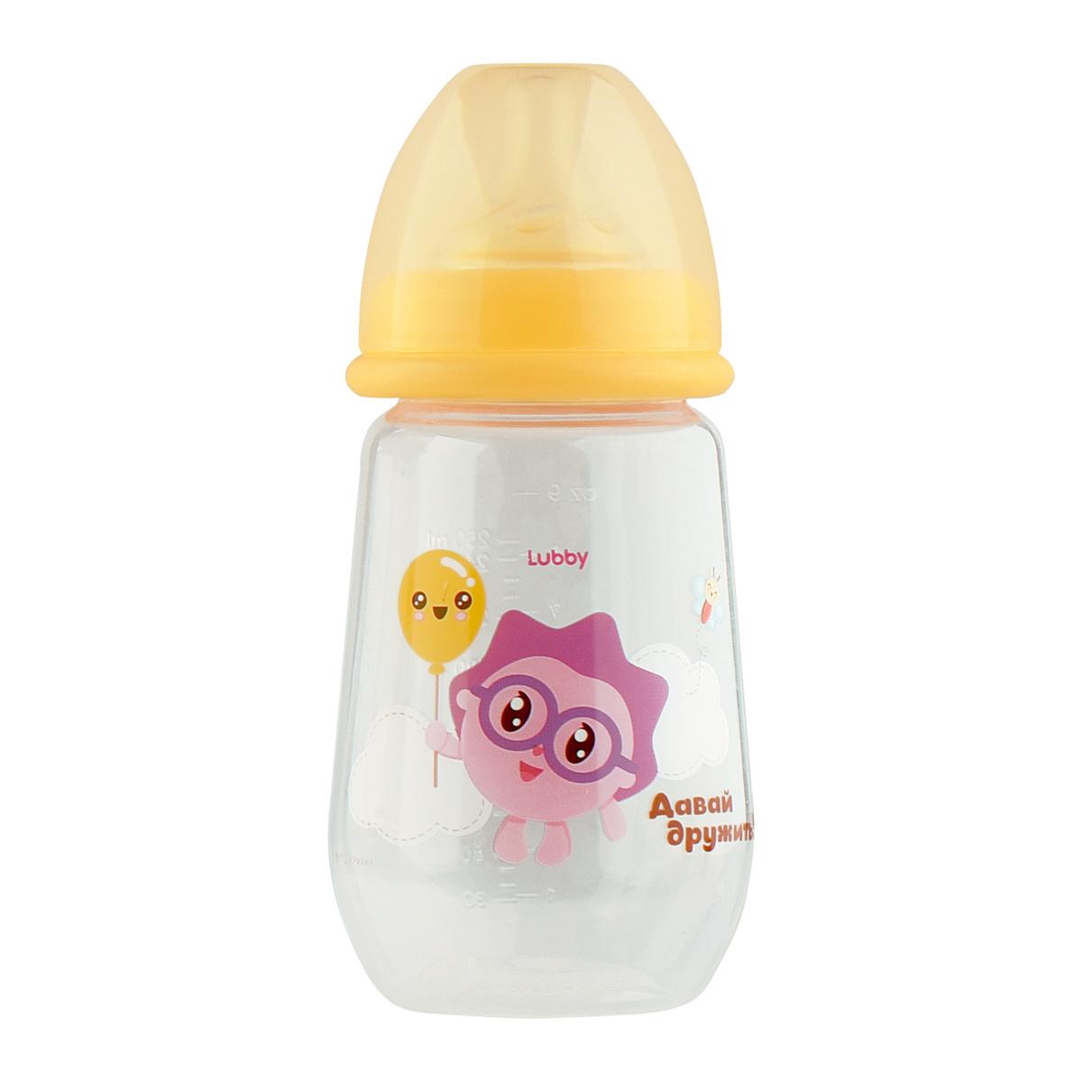 LUBBY Бутылочка для кормления с молочной соской и широким горлышком, от 0 мес, 250 мл,  #1