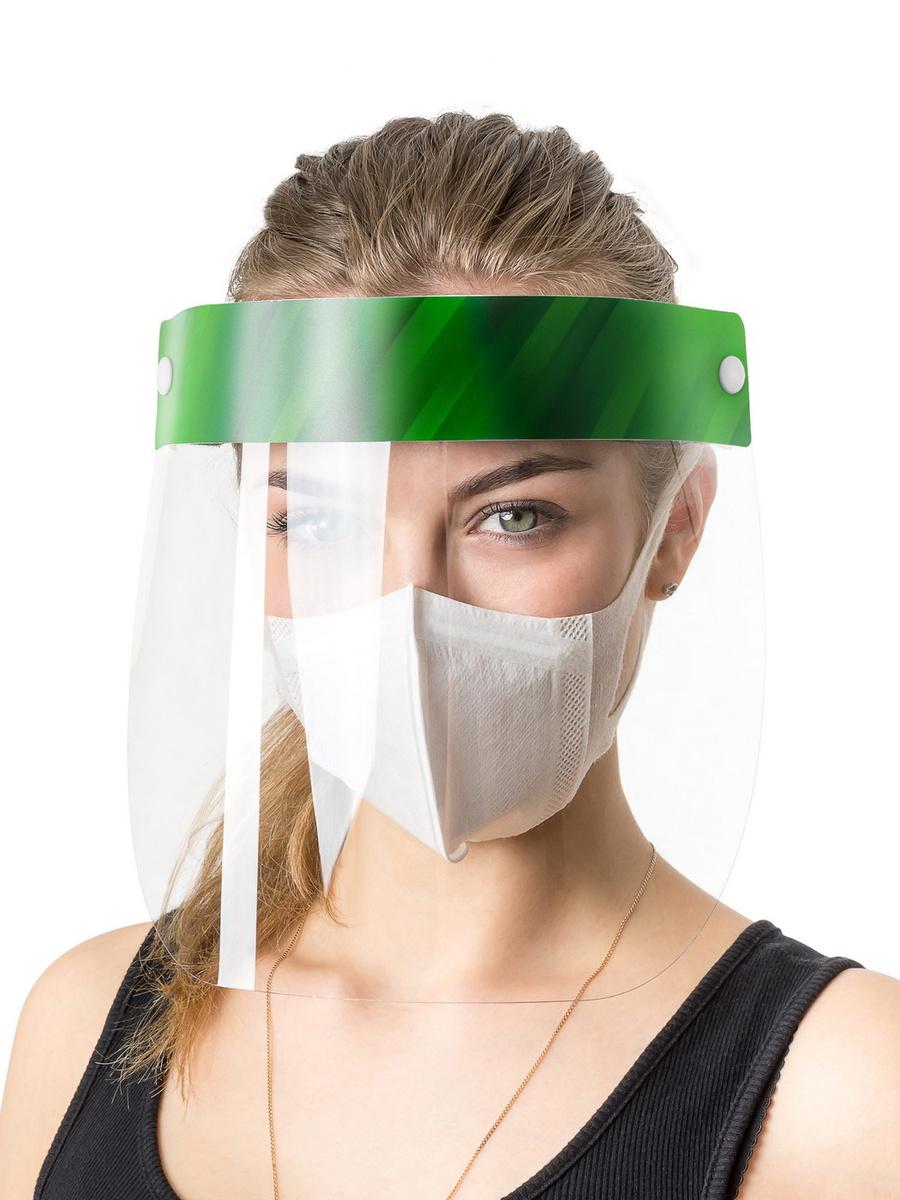 Защитный экран для лица с подъемным щитком / Маска многоразовая лицевая / Щиток защитный лицевой  #1