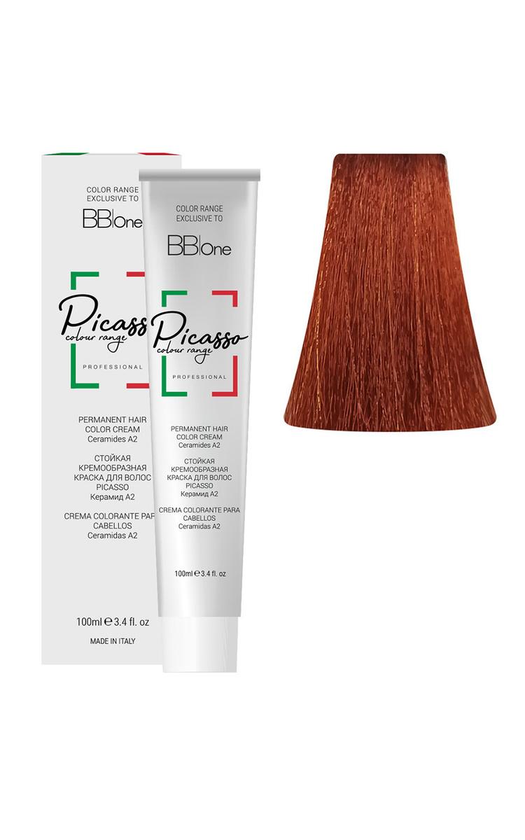 BB One Перманентная крем-краска Picasso, 7.46 блонд медно-красный, 100 мл  #1