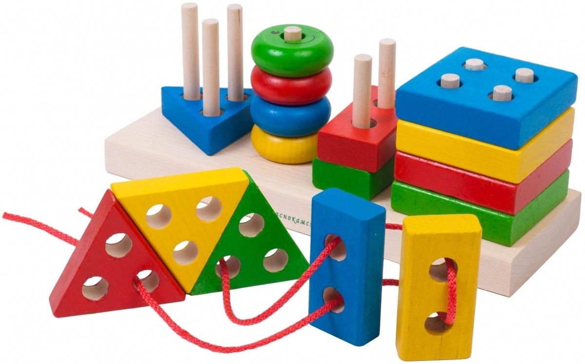 Краснокамская игрушка Набор строительных деталей Геометрик  #1