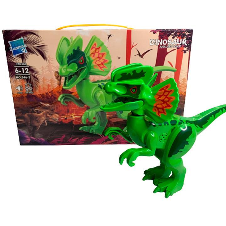 Развивающий Конструктор Динозавр Zuanma со звуком #1