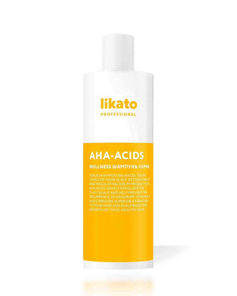 Likato Professional / Шампунь-скраб WELLNESS. Для глубокого очищения жирной кожи головы. 400 мл.  #1