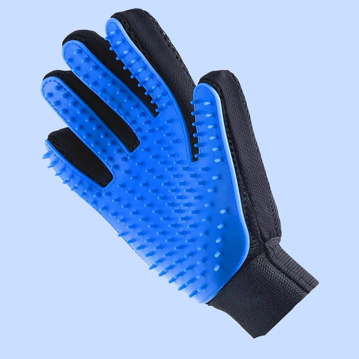 LEMLEO Пуходерка, рукавичка для расчесывания и чистки шерсти кошек и собак, расческа, груминг перчатка #1