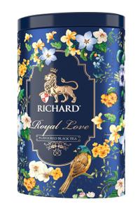 """Чай черный RICHARD """"Royal Love"""" 80 г, с ароматом ванили, крупнолистовой / подарочная упаковка. Вместе дешевле!"""