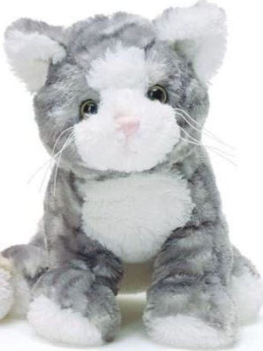Мягкая игрушка Teddykompaniet Котенок, серый, 23 см